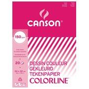 Canson tekenblok 150g/m² ft A3, 20 vel, assortiment kleuren