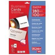 Decadry visitekaarten OneClick mat