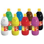 Giotto be-bè plakkaatverf, 8 flessen van 1 l in geassorteerde kleuren