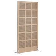 Cloison acoustique bois finition chêne clair H 160 x 80 cm