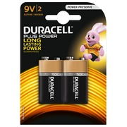 Pile Alcaline AAAA - LR61 Duracell Plus Power- Blister de 2 piles 9 volts