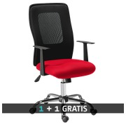 Pack office chair SEATTLE red  -  1 + 1 free