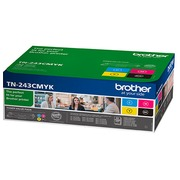 Brother TN243 Pack 4 toners 1 noir + 3 couleurs pour imprimante laser