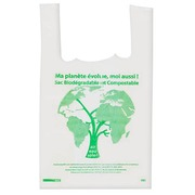 Compostable bag with straps H 45 x W 26 x D 6 cm - box of 1000