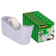 Pack schwerer Abroller C18 + 4 Kleberollen Scotch Magic unsichtbar