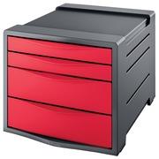 Esselt bloc à tiroirs Vivida 4 tiroirs, rouge