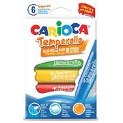 Carioca stick gouache Temperello, boîte de 6 pièces en couleurs assorties
