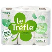 Toilettenpapier doppelte Schicht Le Trèfle Echte Aloe - Pack mit 18 Rollen