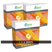 Pack van 2 dozen ecologische vaatwastabletten Ecover + 1 doos gratis