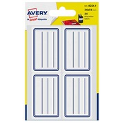 Self-adhesive school labels 36 x 56 mm Scol1 Avery - white with blue lines - bag of 20