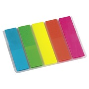 Small page markers plastic Bruneau vivid colors - dispenser of 125 sheets