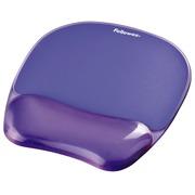 Tapis souris avec repose-poignets Fellowes Crystals gel transparent violet