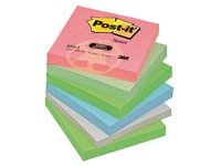 Post-it block, recycled, 76 x 76 mm, assorted pastel colours