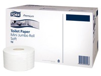 Toilet paper Mini Jumbo double thickness Tork T2 Premium - Box of 12 rolls 170 m