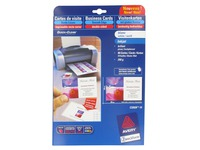 Carte de visite jet d'encre Avery Quick and Clean C32028 85 x 54 mm 240 gr blanche - Pochette de 80