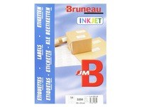 Box of 3200 address labels Bruneau white 105 x 35 mm for inkjet printer