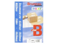 Box of 3200 address labels Bruneau white 105 x 37 mm for inkjet printer