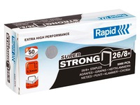 Box of 5000 staples Rapid 26/8 galvanized Super Strong