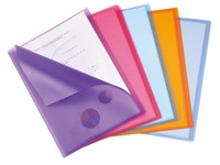 Document protection 40 sleeves transparent Elba polypropylene A4 assorted colors - 40 sleeves