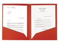 Chemise coin papier double poches Rainex A4 dossier 210 g couleur - Paquet de 25