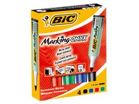 Permanenet marker Bic Onyx Marker Mini conical tip 1.5 mm - Pack of 4 assorted colours