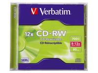 CD-RW Verbatim 700 Mo boîtier standard 8x12x