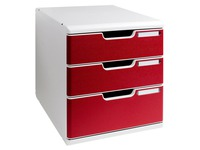 Modulo, 3 coloured drawers