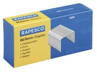 Box of 5000 staples Rapesco 66-8 galvanized for Rapid 100