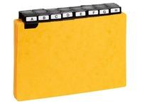 Guide de classement 148 x 210 mm Exacompta jaune - Jeu de 50