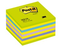 Bloc-cube couleurs Post-it 76 x 76 mm - 450 feuilles