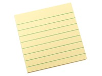 Post-it block, ruled yellow