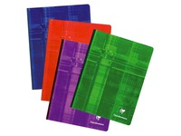 Notebook Clairefontaine 192 pg 17 x 22 cm checked 5x5 assorted colors