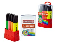 Highlighter Stabilo Boss assorted colours - Pack of 4