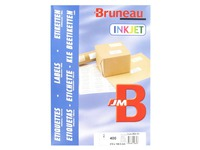 Box of 400 address labels Bruneau white 210 x 148 mm for inkjet printer