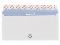 500 recyclete Bruneau Briefumschläge extra-Weiß ohne Sichtfenster 110x220