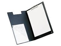 Porte-bloc A4 PVC noir 21 x 32 cm à rabat