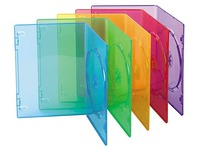 Pack 10 slim cases, 1 DVD, colour