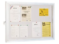 Outdoor display case, 8 sheets, bottom clear grey metal