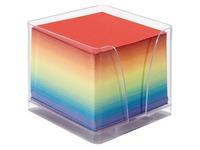 Zettel in Box + 1 Nachfüllung farbiges Papier
