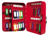 Schränkchen für 40 Schlüssel, rot