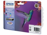 Pack 6 inkjet cartridges Epson T0807