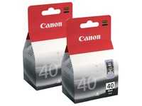 Set 2 Cartridges Schwarz Canon PG-40
