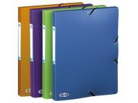 Chemise box plastique Elba 24 x 32 cm dos 2,5 cm couleurs mode assorties