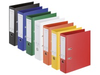 Plastic lever arch files Esselte Chromos Plus A4 back 8 cm assorted classic colours