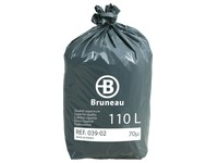 Cardboard - 200 plastic bags, superior quality < BR > 110 litres, 70 microns
