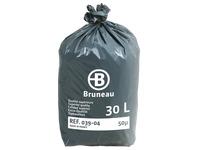 Sac poubelle gris Bruneau Qualité Supérieure 30L - Colis de 200