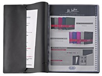 Non-transparent document protectors Le Lutin classic Elba black 40 sleeves