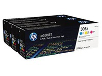 Pack van 3 toners HP 305A kleur