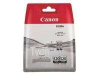 Pack van 2 cartridges Canon PGI520 zwart