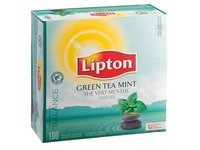 Box of 100 Lipton green tea mint
